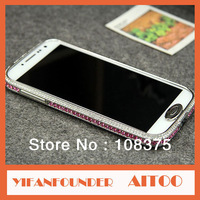 Exclusive Sales Luxury Czech Diamond Bumper For Samsung Galaxy S4 i9500 Card Buckle Connection Design Hard Bumper Case
