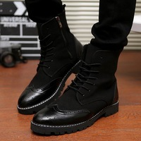 2014 trend winter martin boots male boots high-top shoes male boots fashion thermal men's boots