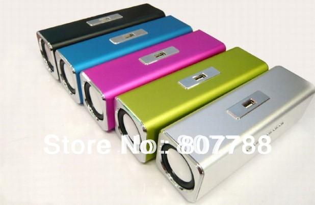 Free shipping MUSIC ANGEL USB speaker TF card sound box+FM radio+ Portable mini speker(China (Mainland))
