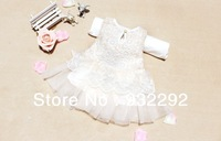 Hot! Retail 1pcs girls dresses summer 2013 princess dress white baby dress lace cute dress 3colors Free&Drop shipping