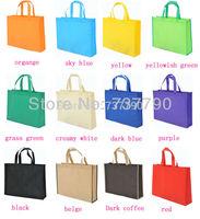 35x30x8cm custom printed logo gift non woven bag/handle non-woven cloth bag for fashion