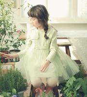Spring  girl dress gauze lace long-sleeve dress  princess dress