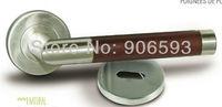 6pairs free shipping Modern stainless steel brown wooden tube door handle/door pull/lever door handle