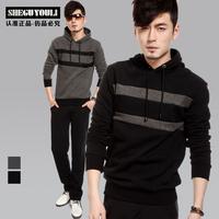 2013 spring male sweatshirt casual pullover slim coat a15