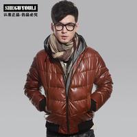 2013 male fashion wadded jacket cotton-padded jacket male slim hooded wadded jacket 1188