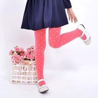 free shipping high quality 1pc retail 2-8 years dot girl legging new 2014 cute dot kids leggings