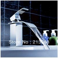 Waterfall Bathroom Sink Faucet (Chrome Finish) ,good quality basin tap.