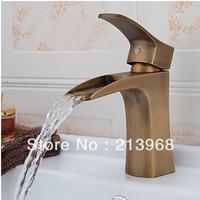 Antique Brass Waterfall Bathroom Sink Faucet ,good quality mixer