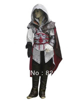 Child kids White Assassin's Creed II 2 Ezio Altair cosplay costume Coat Hoodies Gift Custom made any size Chirdren