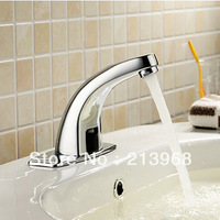 Solid Brass Bathroom Sink Faucet with Automatic Sensor(Cold) ,good quality tap.