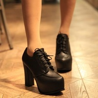 2014 women's spring and autumn shoes fashion high-heeled boots thick heel platform martin boots