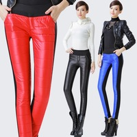 2013 winter down pants female plus velvet thickening skinny pants trousers plus size mm