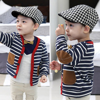 2014 spring outerwear child cardigan baby child 100% cotton long-sleeve top baby fashion hoodies sweatshirts free shipping
