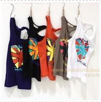 2014 summer child clothing baby child tank baby child lovely vest free shipping
