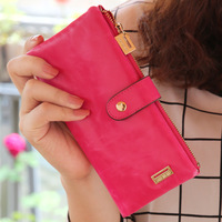 9 Color 2014 New Style Women Leather Wallet Fashion Vintage Hasp Purse Free Shipping 11029
