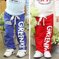 Wholesale 1 lot = 5 pieces 2014 Spring Autumn Kids clothing Children letter Pants for boys and girls trousers Baby Boy Clothes
