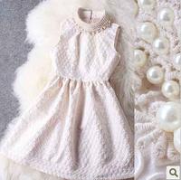 New Fashion 2014 spring fashion slim small mid waist sleeveless dress one-piece dress sleeveless dress