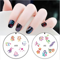 2Pcs/lot  DIY Nail Art Stamp Stamping Silicon Gel Plate Design Template Free Shipping By Random