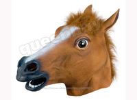100% Latex Rubber Horse Head Mask Hood Creepy Halloween Costume Gangnam Style Dance Novelty Theater