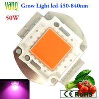 50W grow light led with original Bridgelux chips wavelength 450-840nm