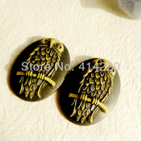 Freeshipping Resin Antique Owl Cameos For Necklace Pendant  Wholesale by 50PCS/LOT