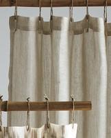 E HOME Fashion linen shower curtain JU 2
