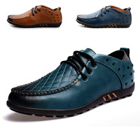 New 2014 Spring vintage casual male thin version of casual leather shoes genuine leather men shoes breathable fashion shoes