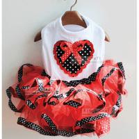 Pet Dog Summer Clothes, Puppy T-shirt With Puff Skirt, Dog Cat Wedding Dress Free Shipping