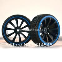 4PCS RC 1:10 Car On-Road Drift Wheel Rims & Tyre,Tires Fit 1/10 HSP HPI 601-5015