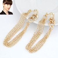 Fashion metal chain fashion elegant personality stud earring