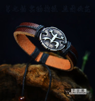 Tibetan jewelry genuine leather bracelet