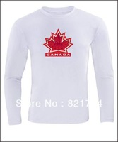 Custom 2014 Olympic Canada Team Long Sleeve T Shirts .printing t shirts ,diy shirts Canada Leafs T Shirts custom your team Logo