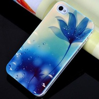 Free Shipping Fashion Flower Phone Case for iPhone 4 and 4S