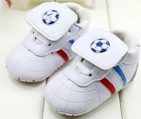soccer football PU baby first walker,soft anti-slip new born shoes