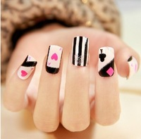 Free Shipping 2014 News Hot Sells 16 Pcs Beauty sticker Lovely cartoon DIY Nail Sticker Nail Art Foil Nail Art Decoration