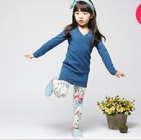 1pc retail 2014 new style 2-7 years leggings baby new baby girl leggings tights kids