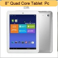 8 inch tablet Metal Shell  ATM 7029 quad core 1.5GHz 1024*768 touch screen android 4.1 wifi dual camera 1G/8G 4500mA Battery