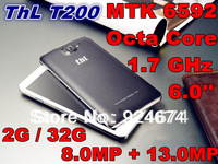 ThL T200 Octa Core 1.7GHz 6.0 inch 1920*1080P IPS FHD Gorilla Glass 3 Screen MTK6592 Android 4.2 Phone 2GB / 32GB 8.0MP + 13.0MP