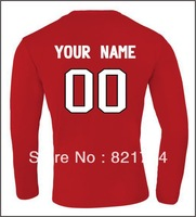 Custom  Canada Team 2014 Olympic  Long Sleeve T Shirts .printing t shirts ,diy shirts sent us name and number