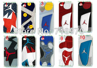 hot 15pcs/lots wholesale Jordan sole shoes hard white case cover for iphone 5 5th 5S+free shipping
