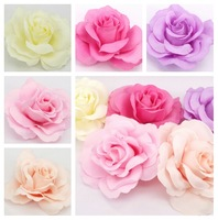 30pcs/lot 7cm Rose Artificial Silk Flower Heads Wedding party Hair dressing Diy flower heads free shipping