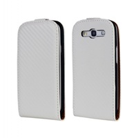 Carbon Fiber PU Leather Flip Cover Case For Samsung Galaxy S3 i9300