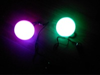 one pair LED POI Thrown Balls for Professional Belly Dance Level Hand Props /belly dance poi, dance poi /