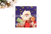 1 Pack 20 PCS Christmas Series Colorful Party Paper Napkin 33X33CM Santa Claus Pattern 3