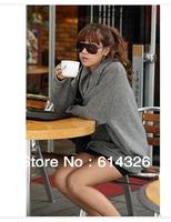 Women Sweatshirt 2014 Autumn Winter Casual Plus Size Pullovers Elegant Turtleneck Batwing Sleeve Loose Women Hoody