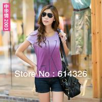 2014 Plus Size Women T-shirts Plus Size Short Sleeve Tops Print Letter Tees Casual Women Clothing Fashion Women Clothing FR017