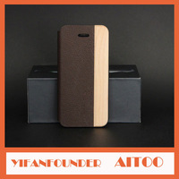 DHL Free Wholesale 30 Pcs Genuine Leather With Wood Cover Cases For iPhone5 5G 5S Rosewood Walnut Bamboo Protective Skin Shell