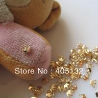 MD-588 3D 50pcs/bag Nail Decoration Metal Gold Small Crown Metal Nail Art Decoration