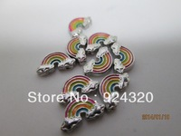 RAINBOW FLOATING HEART LOCKET CHARM WHOLESALE!