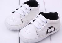 soccer football PU baby first walker,soft anti-slip new born shoes
